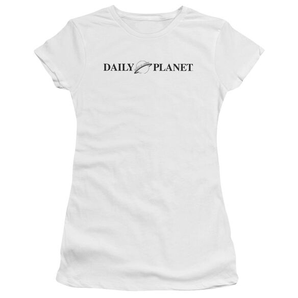 Superman Daily Planet Logo Premium Bella Junior Sheer Jersey