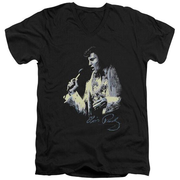 Elvis Painted King Short Sleeve Adult V Neck T-Shirt