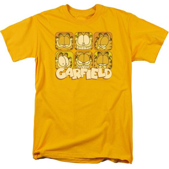 GARFIELD MANY FACES - S/S ADULT 18/1 - GOLD T-Shirt