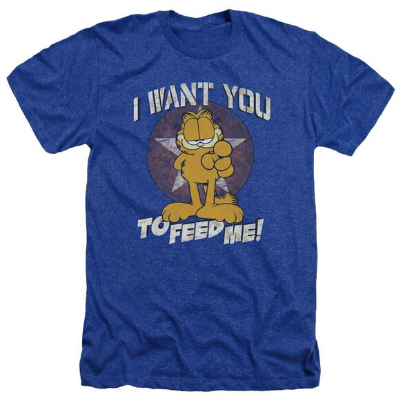 Garfield I Want You - Adult Heather - Royal Blue