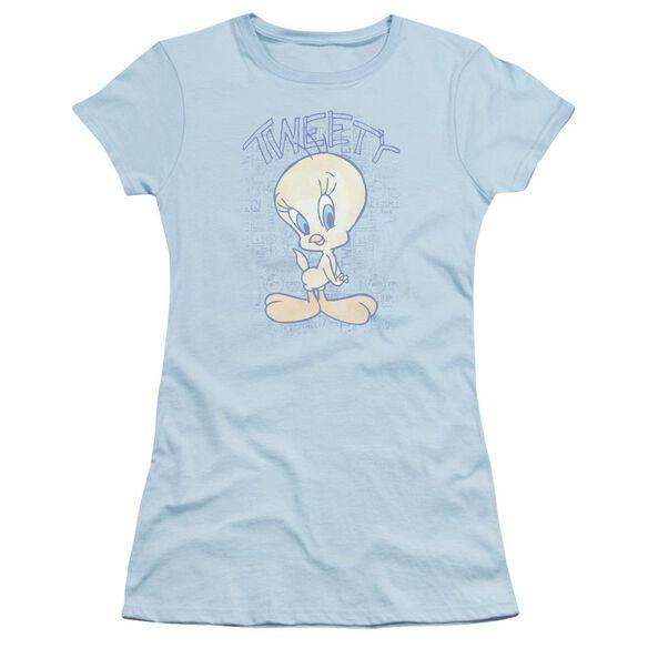 Looney Tunes Tweety Fade Short Sleeve Junior Sheer Light T-Shirt