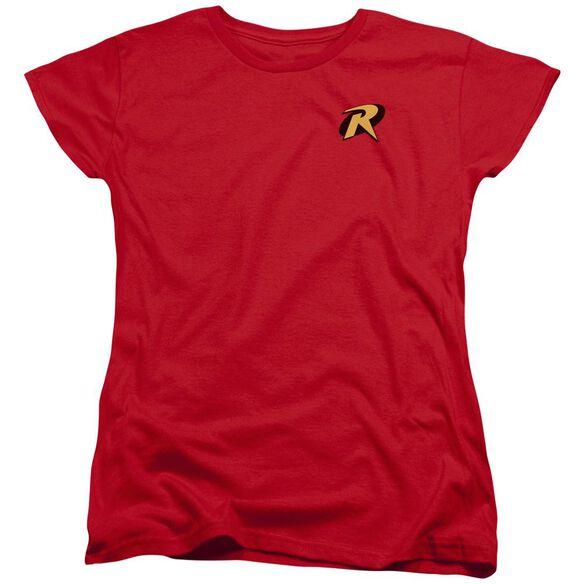Batman Robin Logo Short Sleeve Womens Tee T-Shirt