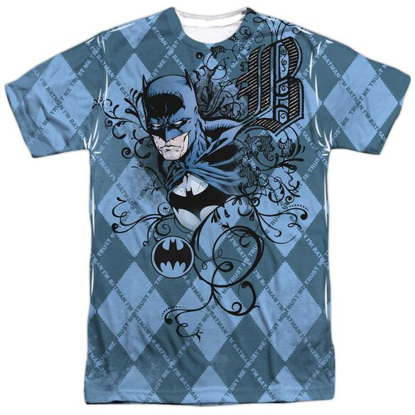 Batman Batgyle Short Sleeve Adult 100% Poly Crew T-Shirt