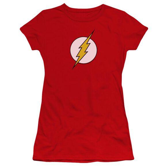 Dc Flash Logo Premium Bella Junior Sheer Jersey