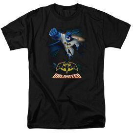 Batman Unlimited Descent Short Sleeve Adult Black T-Shirt