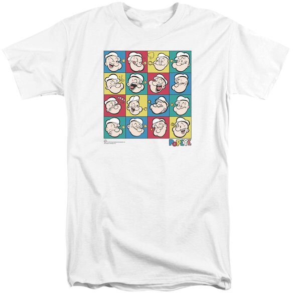 Popeye Color Block Short Sleeve Adult Tall T-Shirt