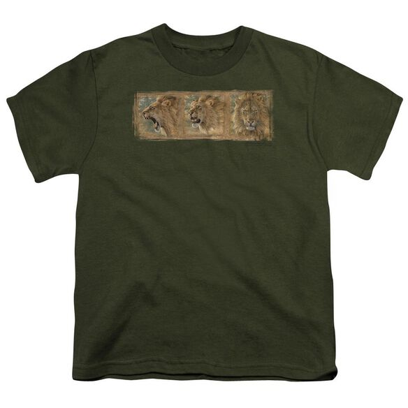 Wildlife Mood Swing Short Sleeve Youth Military T-Shirt