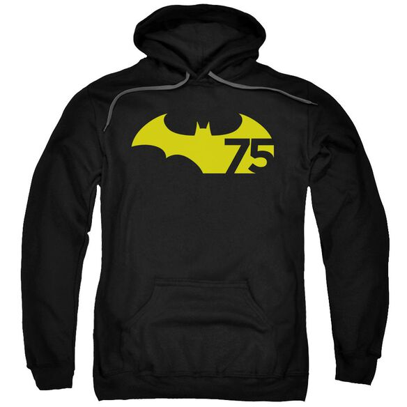 Batman 75 Logo 2 Adult Pull Over Hoodie
