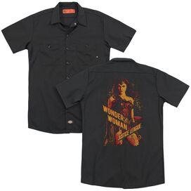 Justice League Movie Wonder Woman (Back Print) Adult Work Shirt