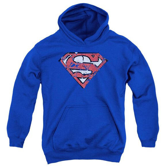 Superman Ripped And Shredded Youth Pull Over Hoodie