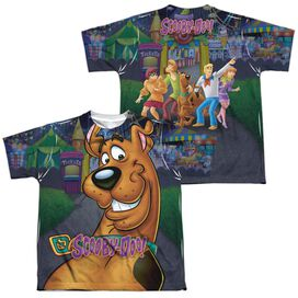 Scooby Doo Big Dog (Front Back Print) Short Sleeve Youth Poly Crew T-Shirt