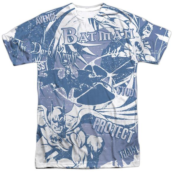 Batman Dark Protector Short Sleeve Adult 100% Poly Crew T-Shirt