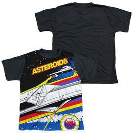 Atari Asteroids Arcade Short Sleeve Youth Front Black Back T-Shirt