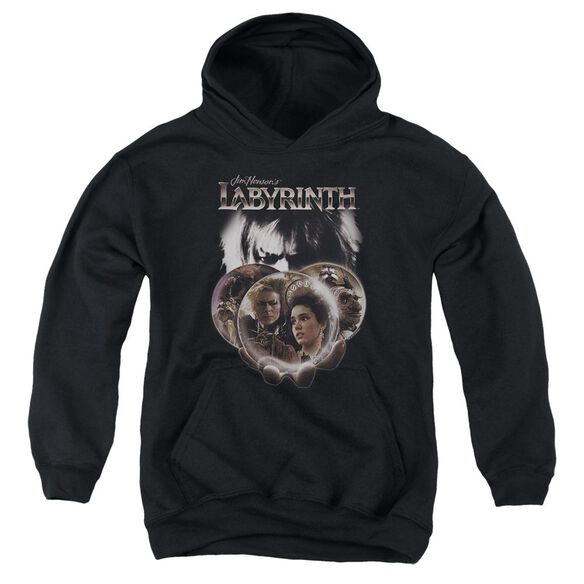 Labyrinth Globes Youth Pull Over Hoodie