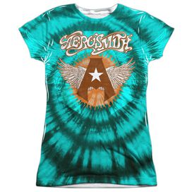 Aerosmith Tie Dye Short Sleeve Junior Poly Crew T-Shirt