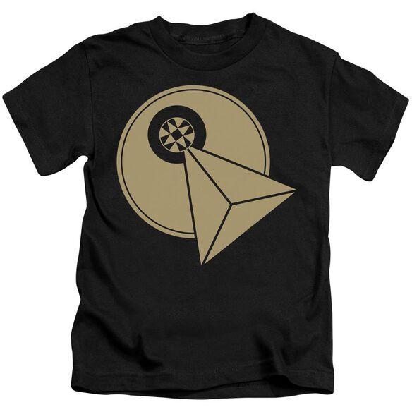 Star Trek Vulcan Logo Short Sleeve Juvenile Black T-Shirt