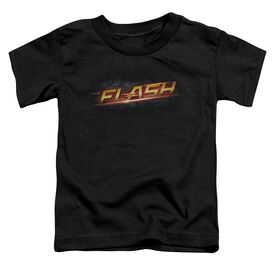 The Flash Logo Short Sleeve Toddler Tee Black T-Shirt