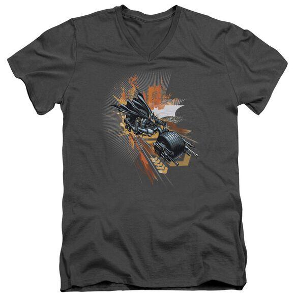 Dark Knight Rises Batpod Short Sleeve Adult V Neck T-Shirt