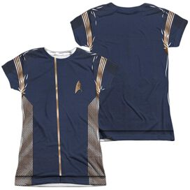 Star Trek Discovery Discovery Uniform (Front Back Print) Short Sleeve Junior Poly Crew T-Shirt