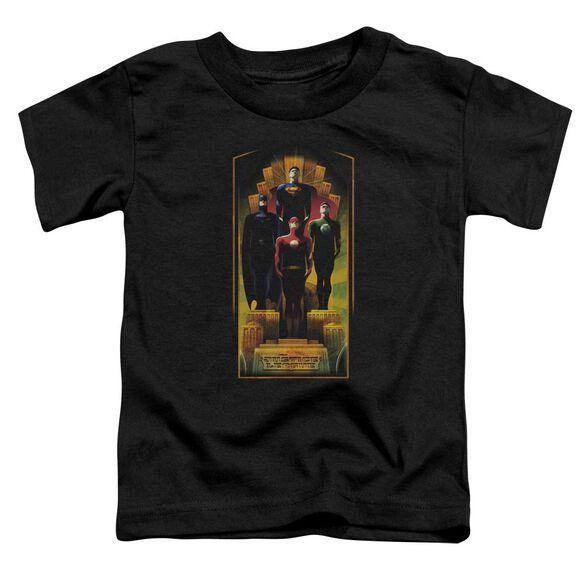 Jla Deco Short Sleeve Toddler Tee Black Sm T-Shirt