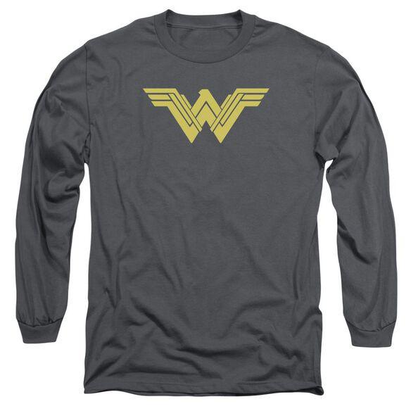 Batman V Superman Clean Line Logo Long Sleeve Adult T-Shirt