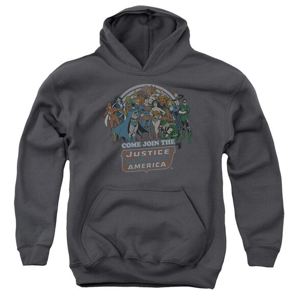Dc Join The Justice League Youth Pull Over Hoodie