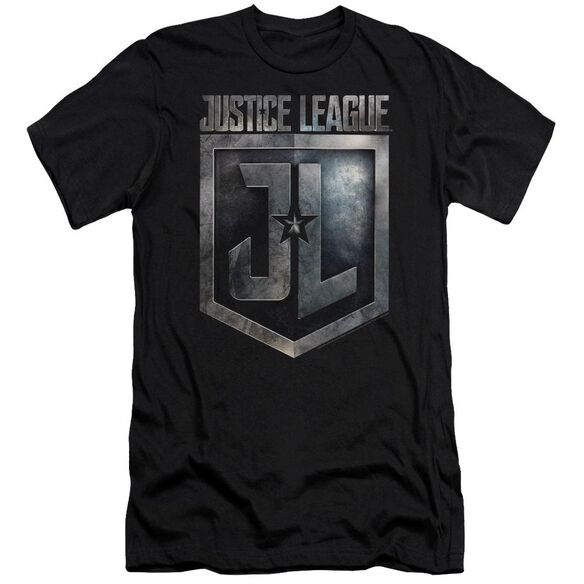 Justice League Movie Shield Logo Short Sleeve Adult T-Shirt