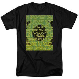 Green Lantern Green Lantern Oath Short Sleeve Adult T-Shirt