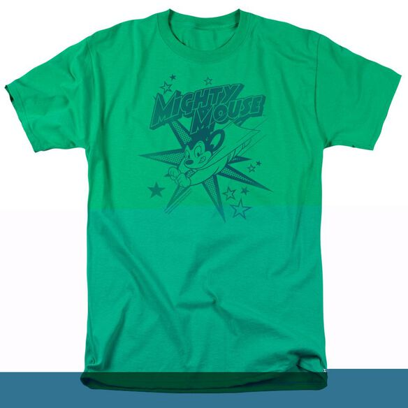 MIGHTY MOUSE MIGHTY MOUSE - S/S ADULT 18/1 - KELLY GREEN T-Shirt