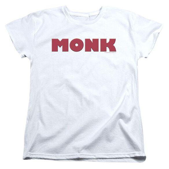 Monk Logo Short Sleeve Womens Tee T-Shirt
