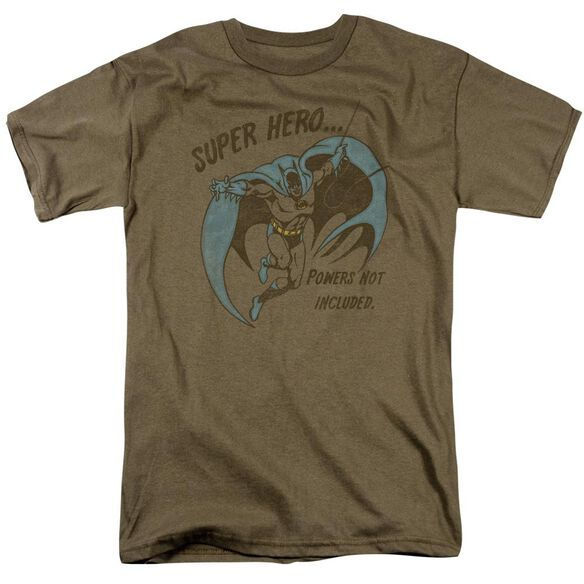 Dc No Powers Short Sleeve Adult Safari Green T-Shirt