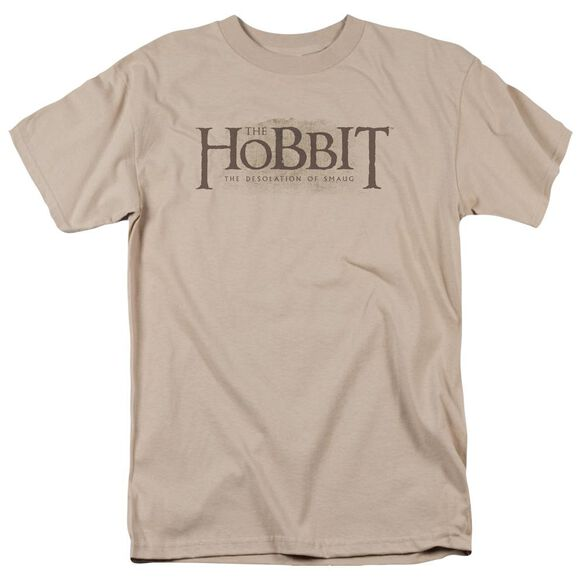 Hobbit Textured Logo Short Sleeve Adult Sand T-Shirt