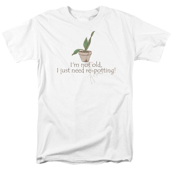 Garden Old Gardener Short Sleeve Adult White T-Shirt