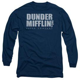 The Office Dunder Mifflin Distressed Long Sleeve Adult T-Shirt