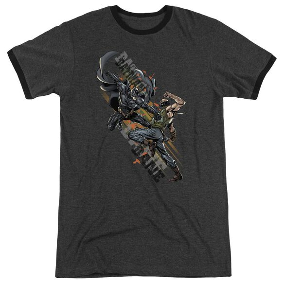 Dark Knight Rises Attack Adult Heather Ringer Charcoal