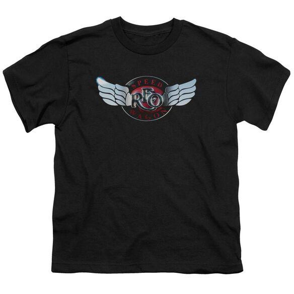 Reo Speedwagon Rendered Logo Short Sleeve Youth T-Shirt