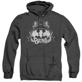 Batman Grim & Gritty - Adult Heather Hoodie - Black