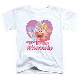 Sesame Street Friendship Short Sleeve Toddler Tee White T-Shirt