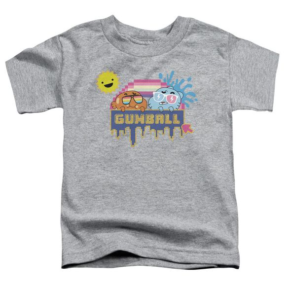 Amazing World Of Gumball Sunshine Short Sleeve Toddler Tee Athletic Heather T-Shirt