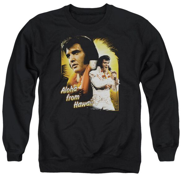 Elvis Aloha Adult Crewneck Sweatshirt
