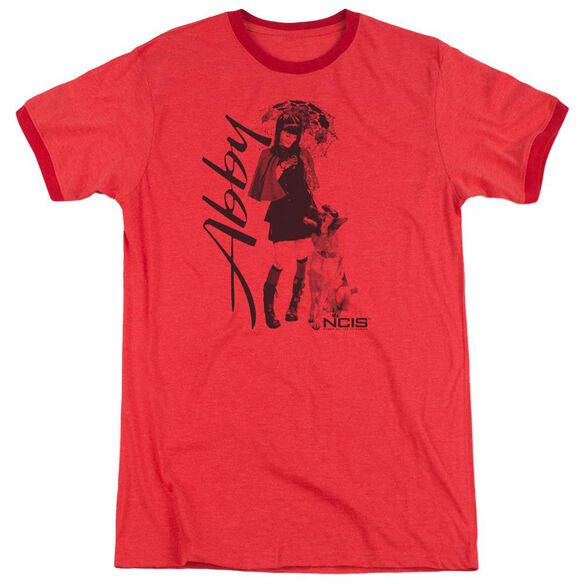 Ncis Sunny Day Adult Heather Ringer Red