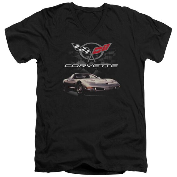 Chevrolet Checkered Past Short Sleeve Adult V Neck T-Shirt