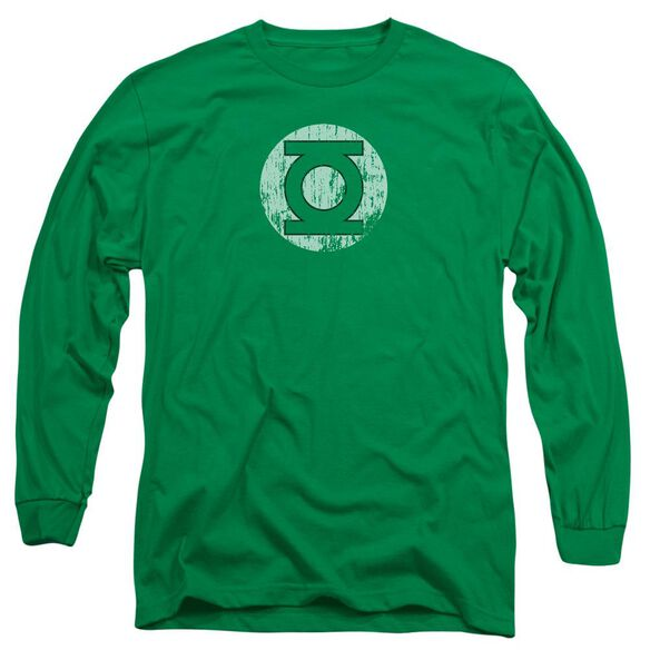 Dc Distressed Lantern Logo Long Sleeve Adult Kelly T-Shirt