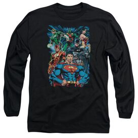 Jla Justice Is Served Long Sleeve Adult T-Shirt
