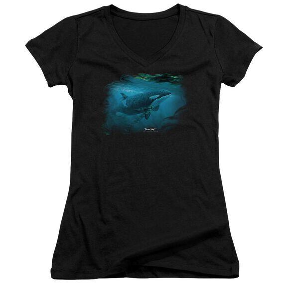 Wildlife Pursuit Thru The Kelp Orca Junior V Neck T-Shirt