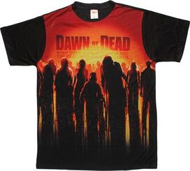 Dawn of the Dead Sun Poster Sublimated T-Shirt Sheer