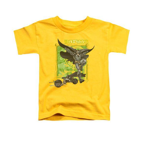 Dark Knight Hi Tech Gear Short Sleeve Toddler Tee Yellow T-Shirt
