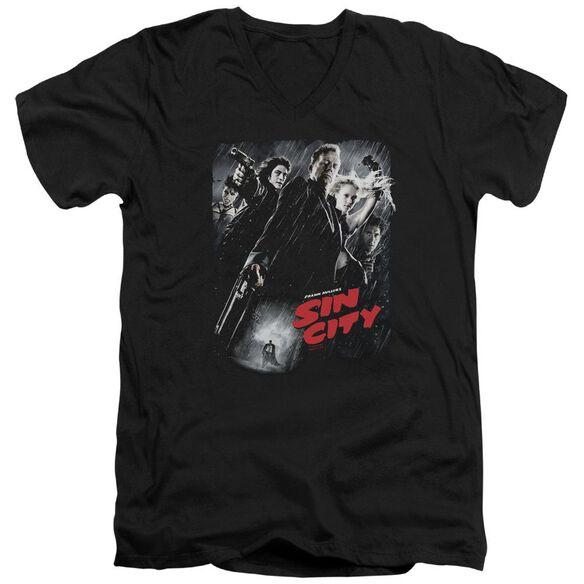 Sin City Sc Poster Short Sleeve Adult V Neck T-Shirt