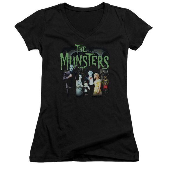 The Munsters 1313 50 Years Junior V Neck T-Shirt