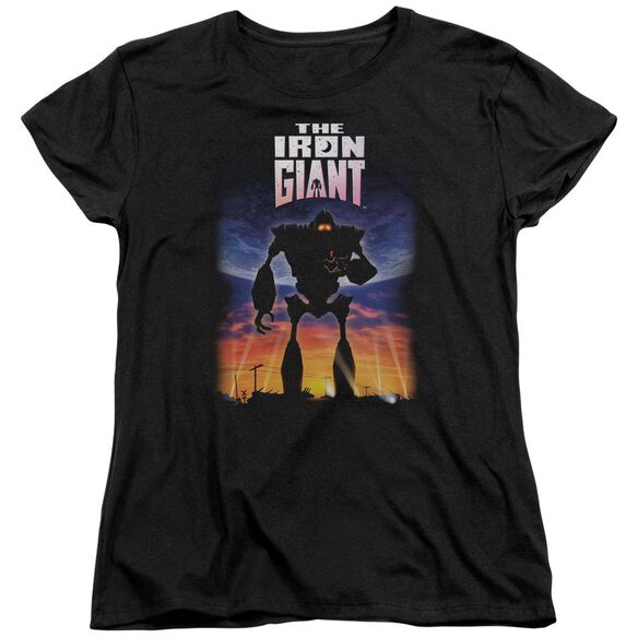 Iron Giant Poster Short Sleeve Womens Tee T-Shirt